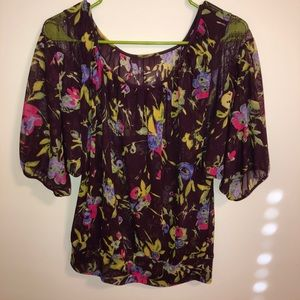 Express sheer floral top
